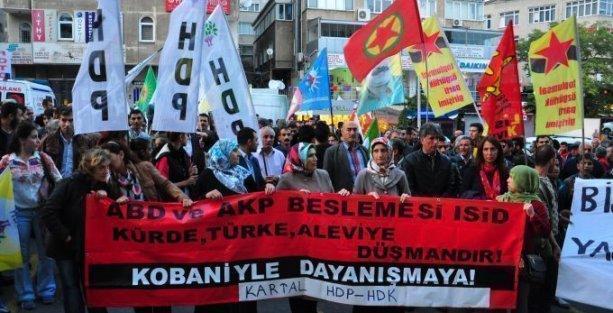 İstanbul'da Kobani direnişine destek eylemleri
