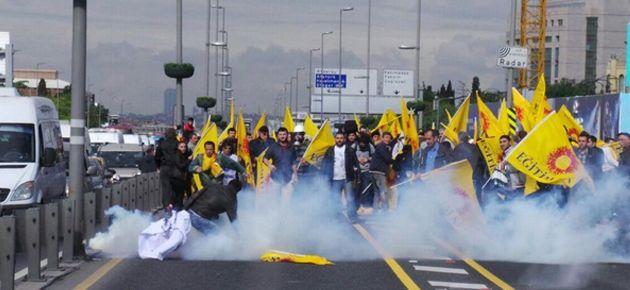 Mecidiyeköy'de kitleye polis gazla müdahale etti