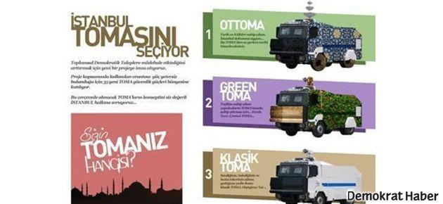 İstanbullu TOMA'sını seçiyor