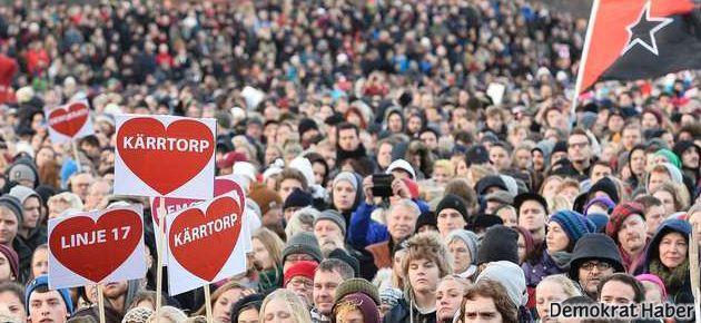 İsveç'te onbinler ırkçılığı protesto etti