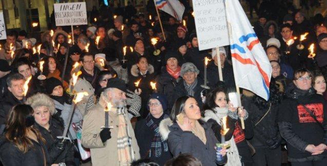 İsveç'te soykırım protestoları