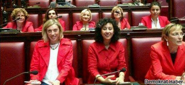 İtalya'da 8 milletvekili 'kırmızılı kadın' oldu