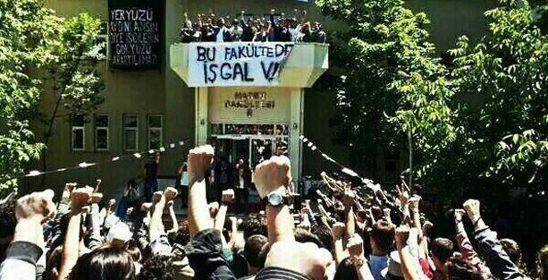 İTÜ öğrencileri Maden Fakültesi'ni işgal etti