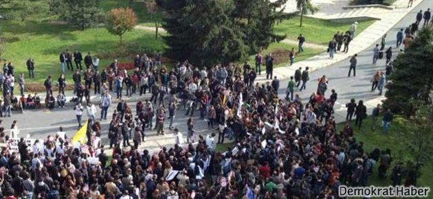 İTÜ'de YÖK Başkanı'na protesto