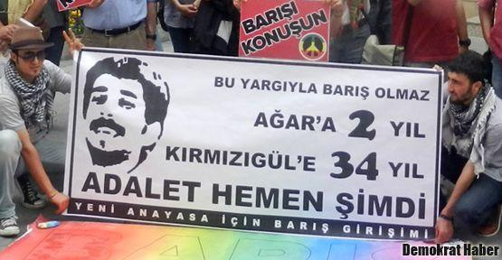 İzmir'de Cihan Kırmızıgül'e özgürlük istendi