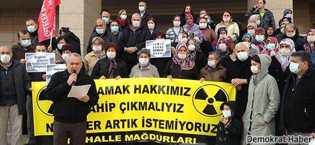 İzmir'de Nükleer atık eylemi