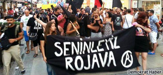 İzmir'de Rojava katliamı protesto edildi