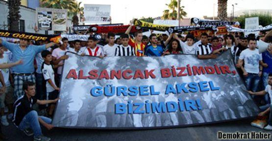 İzmir'de taraftarlar ranta karşı yürüdü