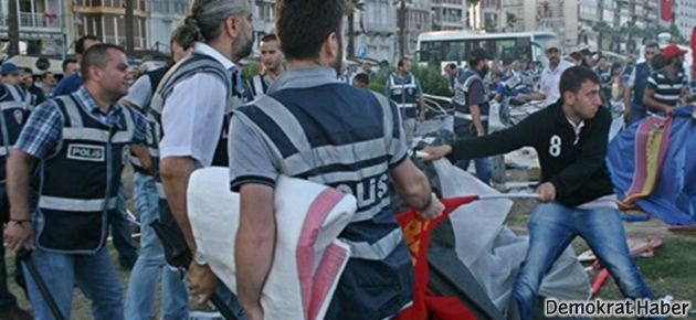 İzmir'deki direniş çadırlarına şafak baskını
