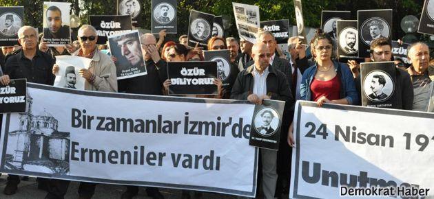 İzmir'deki soykırım anmasına saldırı