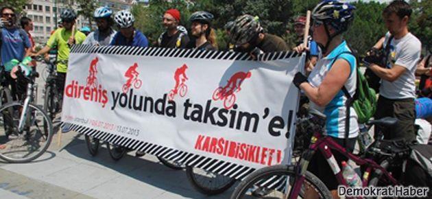İzmir'den Gezi direnişine pedal çevirdiler