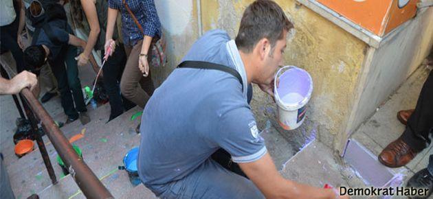 İzmit'te merdiven boyamaya gözaltı