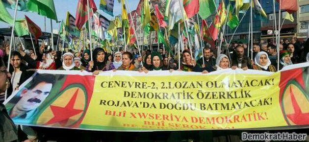 Kadıköy mitinginde 'Rojava'ya statü' istendi