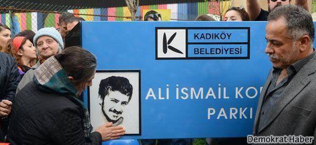 Kadıköy'de Ali İsmail Korkmaz parkı açıldı