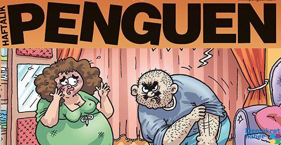 Kadına şiddete Penguen yorumu
