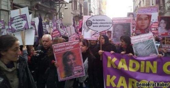 Kadınlar 'erkek ve devlet şiddetine karşı' sokaklardaydı
