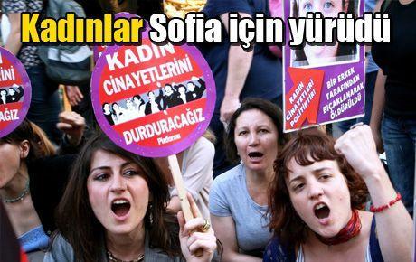 Kadınlar Sofia için yürüdü
