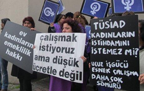 Kadınlardan TÜSİAD'a protesto