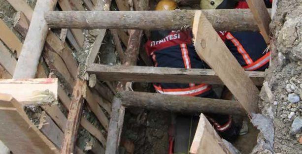 Kağıthane'de inşaatta göçük