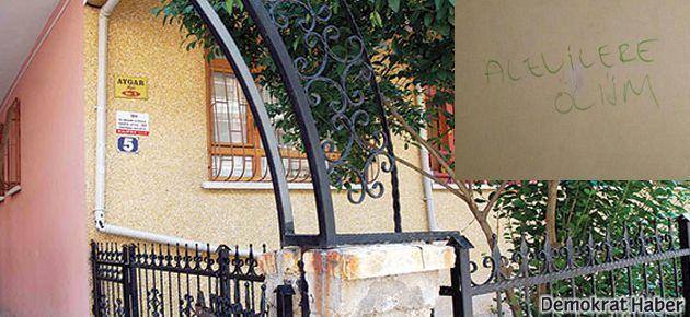 Kapılara 'Alevilere ölüm' yazan 2 kişi gözaltında