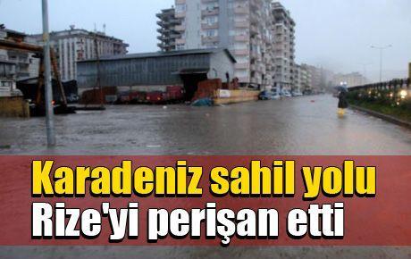 Karadeniz sahil yolu Rize'yi perişan etti