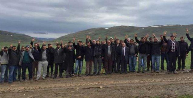 Karayazı'da operasyona karşı geceyi dağda geçirecekler
