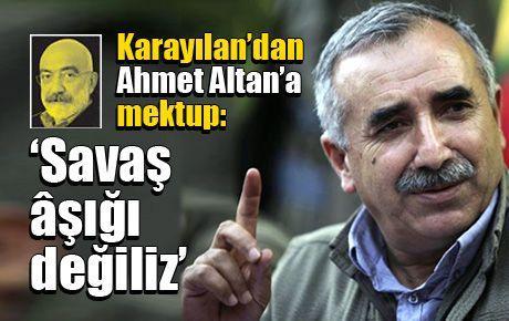 Karayılan'dan Ahmet Altan'a mektup