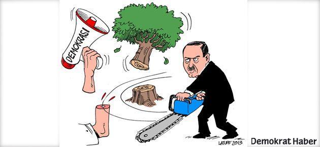 Karikatürist Latuff 'Gezi direnişi'ni çizdi