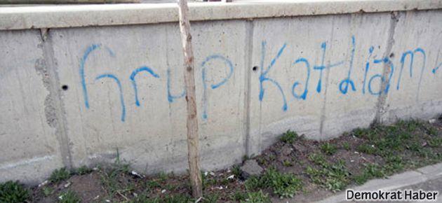 Kars'ta provokatif yazılama