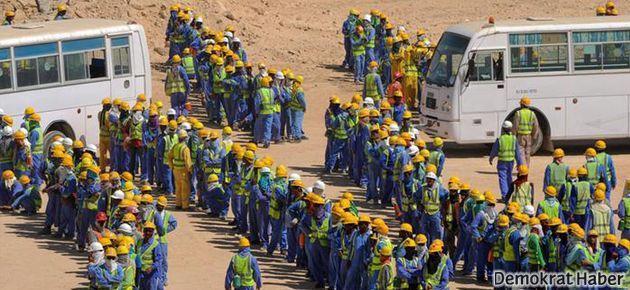 Katar'da 'ölüm'üne çalışıyorlar
