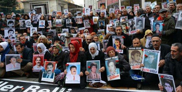 Kayıp yakınları 2015'in ilk eyleminde seslendi: Zaman aşımına son