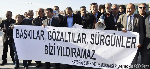 Kayseri'de basın açıklaması yapmaktan yargılandılar