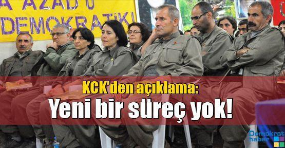 KCK: Yeni bir süreç yok!