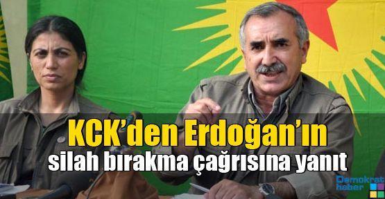 KCK'den Erdoğan'ın silah bırakma çağrısına yanıt