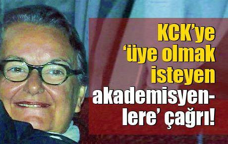 KCK'ye 'üye olmak isteyen akademisyenlere' çağrı!