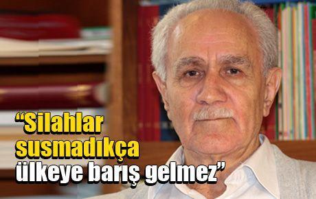 Kemal Burkay: Silahlar susmadıkça ülkeye barış gelmez