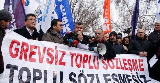 KESK 4688'i Meclis önünde protesto etti
