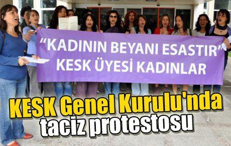 KESK Genel Kurulu'nda taciz protestosu