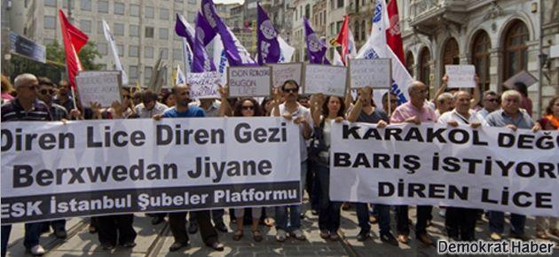 KESK Lice saldırısını protesto etti