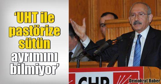 Kılıçdaroğlu: UHT ile pastörize sütün ayrımını bilmiyor