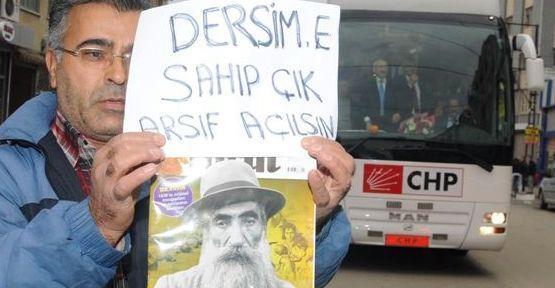 Kılıçdaroğlu'na Dersim protestosu