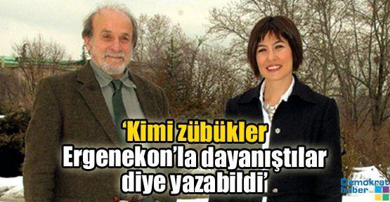 'Kimi zübükler Ergenekon'la dayanıştılar diye yazabildi'