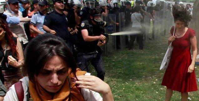 'Kırmızılı kadın'a biber gazı sıkan polise fidan dikme cezası