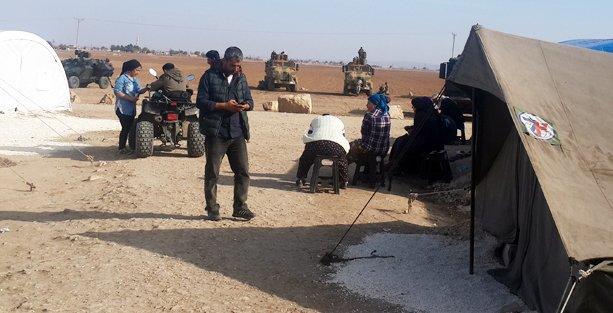 Kobani için nöbet tutulan köyde gerginlik yaşandı