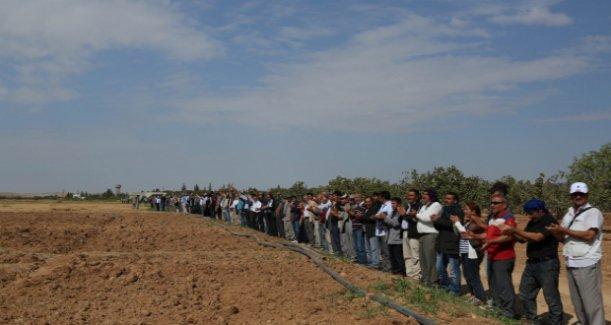 Kobani için sınırda canlı kalkan eylemi başlıyor