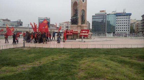 Komünist Partililer Taksim'e girdi