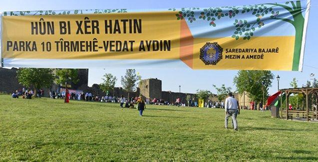 Kontgerilla tarafından katledilen Vedat Aydın'ın adı Diyarbakır'da parkta yaşayacak