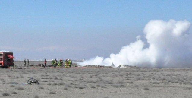 Konya'da sivil uçak mecburi iniş yaptı