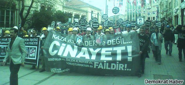 Kozlu'da ölen maden işçilerinin aileleri Taksim'deydi