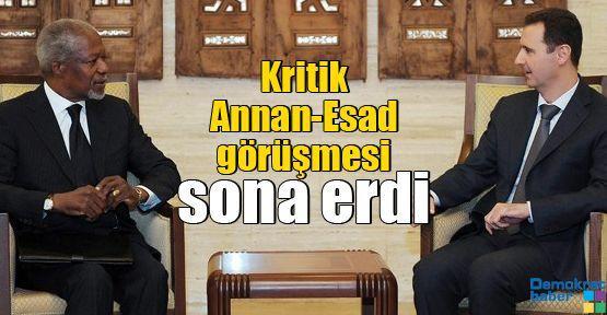 Kritik Annan-Esad görüşmesi sona erdi